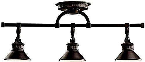 Kichler 42439OZ, Sayre Linear Semi Flush Ceiling Light, 3LT, 150 Watts Halogen, Olde Bronze ()