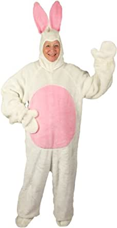 Bunny White Open Face Adult Costume (Medium Adult)