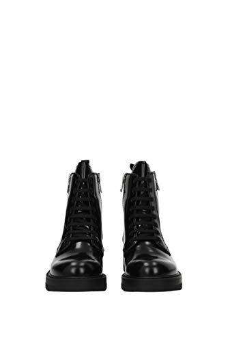 1T008H Femme Noir Cuir EU Prada Bottines B1wSv