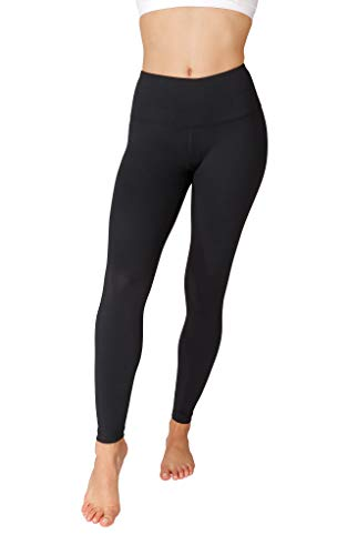 90 Degree By Reflex - High Waist Power Flex Legging – Tummy Control - Black Large
