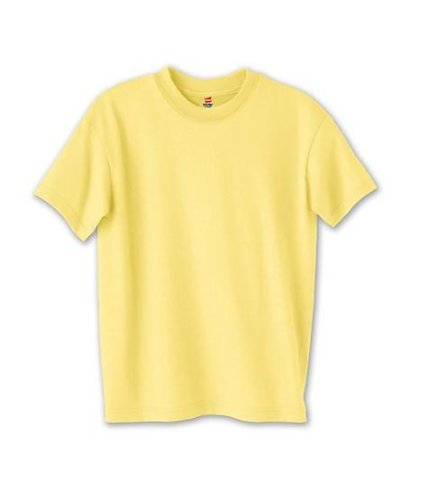 picture of Hanes 5370 Youth 5.5 oz. 50/50 ComfortBlend EcoSmart T-Shirt - Lime - XS