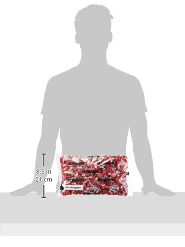 HERSHEY'S KISSES Chocolate Candy, Red Foils, 4.1lb Bulk Candy, approx. 400 Pieces. Perfect for Graduation and 4th of July Decorations by Kisses (Image #9)