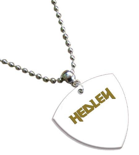 Hedley Hot Foil on White Bass Pick Collier Médiator