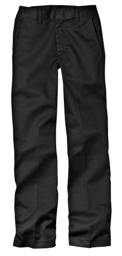 Dickies Little Boys' Classic Flat Front Pant,Black,12 Slim