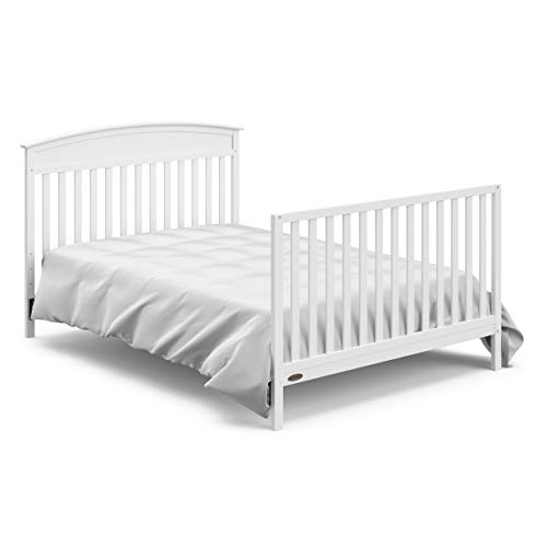 31cYV88OIEL - Graco Benton 4-in-1 Convertible Crib, White, Solid Pine And Wood Product Construction, Converts To Toddler Bed Or Day Bed (Mattress Not Included)