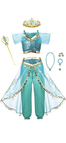 Jasmine Wand - Arabian Princess Girls Costume Outfit, Tiara,