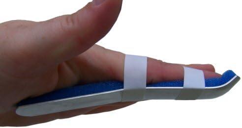 "Alpha Medical Gutter Finger Splint Brace for Jammed & Injured Fingers 12 Pack (3"")"