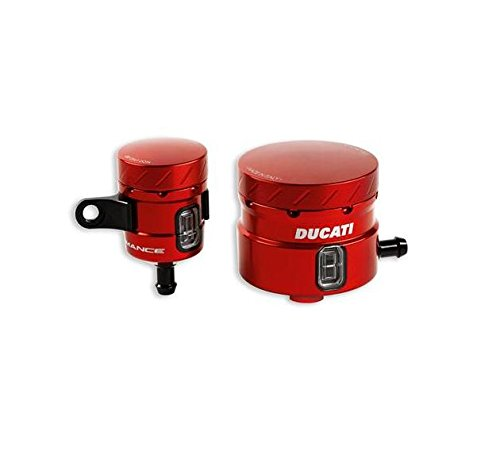 Ducati Performance Superbike Billet Aluminum Brake & Clutch Fluid Reservoirs (Red - Kit 1098 Clutch Ducati