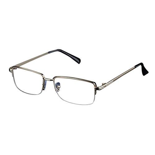 Unisex Light Resin Metal Frame Reading Glasses +1.0 - 3