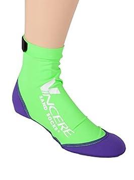 Vincere Arena XS calcetines para esnórquel, fútbol playa, arena de voleibol, color verde