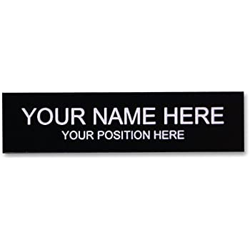 Amazoncom Office Desk Name Plate Or Door Sign Laser Engraved - Office desk name tag template