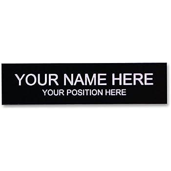 Office Desk Name Plate or Door Sign - Laser Engraved Signage Material - black  sc 1 st  Amazon.com & Amazon.com : Office Desk Name Plate or Door Sign - Laser Engraved ...