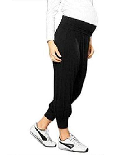 Top Mujer Maternidad Pantalones de harén Ali pantalones embarazo ropa tamaño 8101214 negro