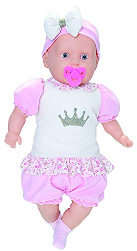 Boneca Baby New Colection Macacão Curto Anjo Rosa