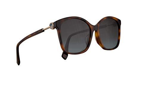 Fendi FF0361/F/S Sunglasses Dark Havana w/Grey Lens 57mm 0861I FF 0361/F/S