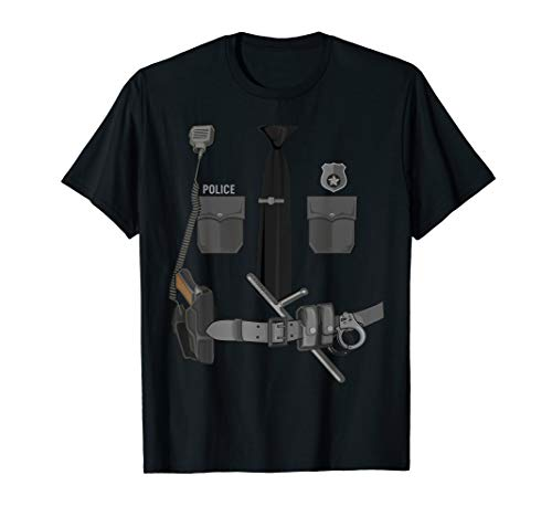 Funny Police Officer Halloween Cop Costume Police Shirt Gift T-Shirt]()