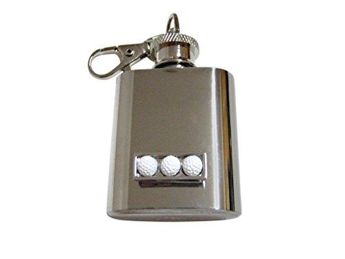 Box of Golf Balls Design 1 Oz. Stainless Steel Key Chain ()