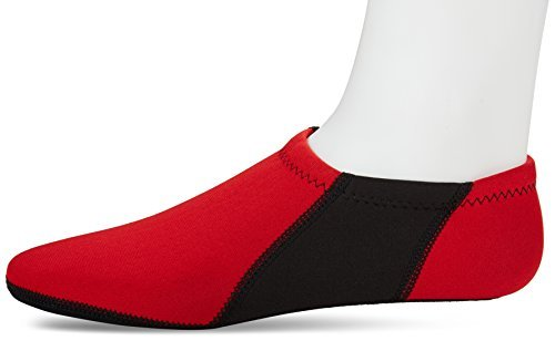 NuFoot Booties Men's Shoes, Best Foldable & Flexible Footwear, Fold and Go Travel Shoes, Yoga Socks, Indoor Shoes, Slippers, Red with Black Stripes, Medium by Nufoot