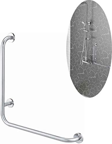バスルームグラブバー 安全浴室手すりホームケア入浴産業絶妙なハードウェアステンレス鋼の手すり形状グラブバーLシャワー 浴室付属品
