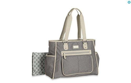 Carter's Essence Flannel Diaper Bag in Grey