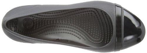 Zuecos Crocs Toe material sintético Cap Flat mujer Black de Negro Black 7ZxwfqUxS