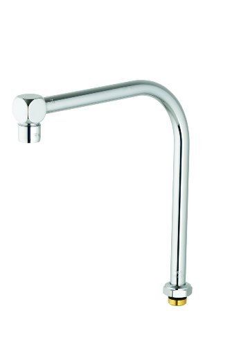 T&S Brass B-2403 Swivel Gooseneck Assembly with High Rise Swing Spout and Cube Style Aerator Outlet (Swivel Spout Swing)