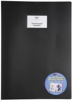 20 Page Tiger 4 x A3 Flexicover Black Cover Display Book Presentation Folders Portfolio Clear Pockets 40 Sides to View