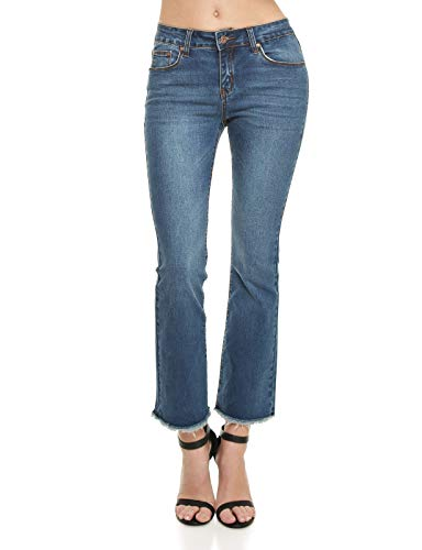 Monkey Ride Jeans Women's Casual Skinny Jeans Ankle Destroyed Frayed Hem Denim 11, ()