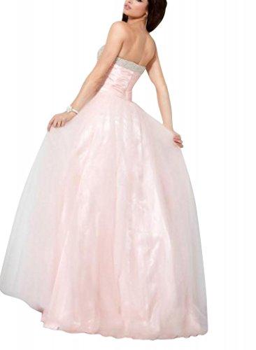 mit Spalte Abendkleid BRIDE Perlen Rosa Liebsten Mantel Applikationen Rosa bodenlangen GEORGE nwF6R0xn
