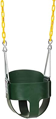 Eastern Jungle Gym Heavy-Duty High Back Full Bucket Toddler Swing Seat with Coated Swing Chains Fully Assemble