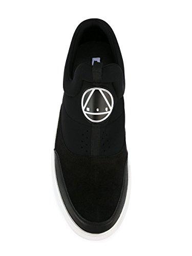 Mcq Alexander Mcqueen Hombre 421739R11081000 Negro Cuero Zapatillas Slip-On