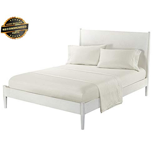 Gatton Premium New White Sheet Set Bedding1800 Thread Count 12 Pocket Soft 4 Size Twin Queen King   Collection - Futon Cover Madrid