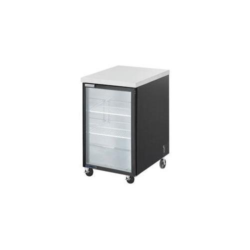 Maxx Cold MCBB24-1BG 24'' Back Bar Cooler with 7 cu. ft. Capacity Painted black Coated Steel Exterior Solid Doors with Locks 1/3 HP Easy Cleaning and Servicing in