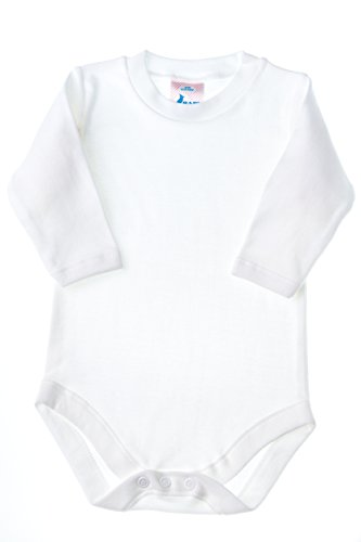 Baby Jay White Long Sleeve Onesie - Ultra Soft Cotton Undershirt - Boys and Girls Baby and Toddler Bodysuit