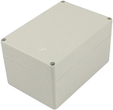 DealMux 160mm x 110mm x 90mm Rectangular de plástico Impermeable DIY Caja de Conexiones Caja Gris: Amazon.es: Electrónica