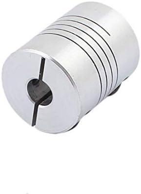 Pack of 2) Xnrtop 8mm to 8mm Shaft Coupling 40mm Length 32mm Diameter Stepper Motor Coupler Aluminum Alloy Joint Connector for 3D Printer CNC Machine DIY Encoder