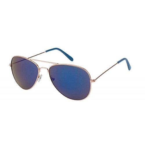 Chic-Net Gafas de sol gafas de aviador 400 UV espejo de oro ...