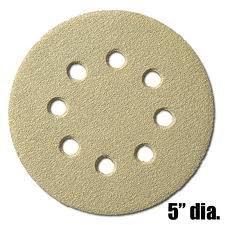 5 Disk 8 Hole Sanding Disks-220 GRIT Hook /& Loop