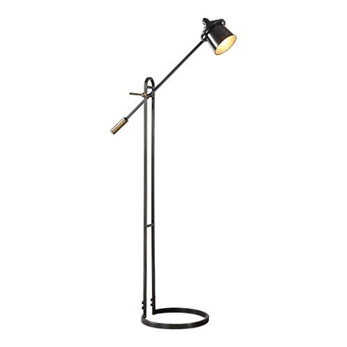 Uttermost 28122-1 Chisum - One Light Floor Lamp, Dark Oil Rubbed Bronze/Antique Brass Finish (Task Lamp Studio Floor)