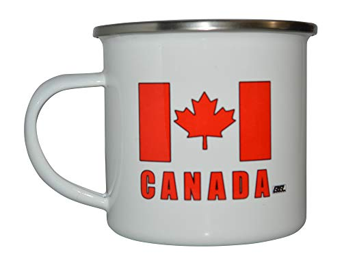 Canadian Flag Camp Mug Enamel Camping Coffee Cup Gift Canada Maple Leaf CA Camping Gear