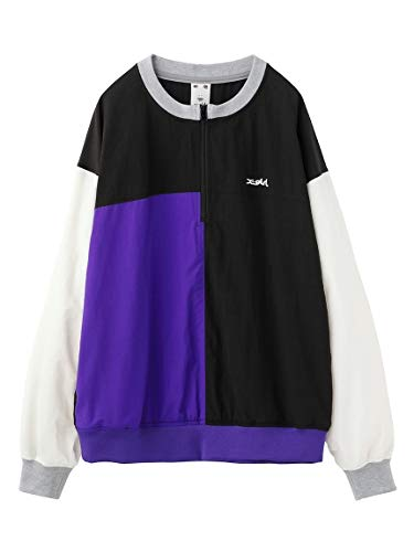 X-girl(エックスガール) HALF ZIP CRAZY COLOR TOP