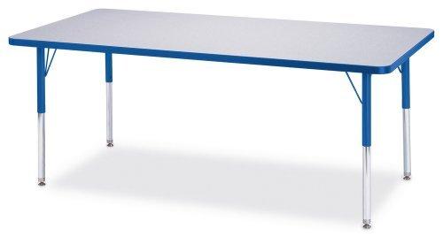 (Jonti-Craft Kydz Activity Table Gray Top/Red Edge/30