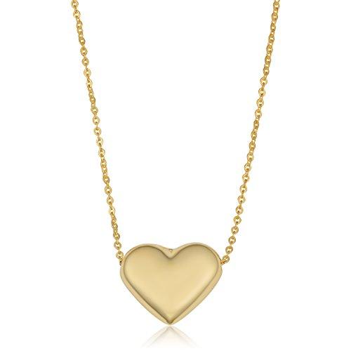 Kooljewelry 10k Yellow Gold Heart Necklace (18 - Gold Necklace 10k Heart Pendant