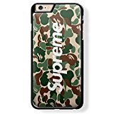 Price comparison product image a bathing ape and supreme for iPhone 6 Plus Black case