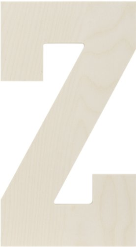 "Baltic Birch Collegiate Font Letters & Numbers 13.5″""-Letter Z"