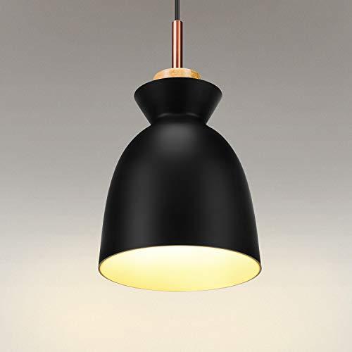 Lightess Lámpara de Techo Colgante Vintage Lámpara Retro Industrial Luz de Metal E27 Iluminación Interior para…