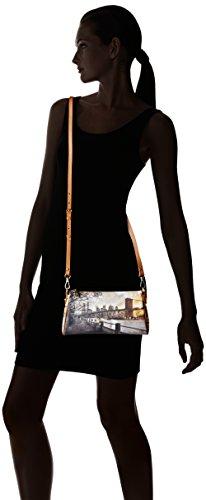 Ynot - I-313, Bolsos baguette Mujer, Multicolore (Broadway), 26x14.5x5 cm (W x H L)