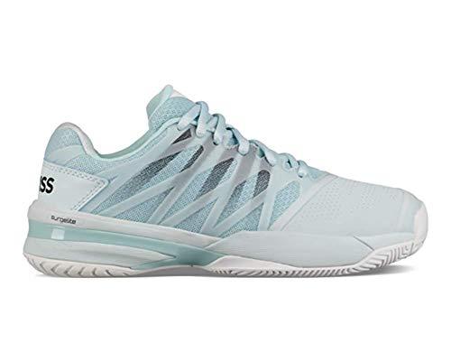 K-Swiss Women's Ultrashot 2 Tennis Shoe, Pastel Blue/White/Black (Size 5.5 M US)