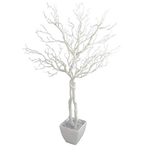 Leaf 95cm Deluxe Artificial White Wishing Tree Manzanita Plant -