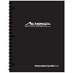 Action Lesson Plan Book / Gradebook Combo (8.5x11 inches) Lesson Plan Book + Grade Book + Seating Chart -- 40 Weekly 7 Subject/Class Lesson Planning and 10 Week Grading